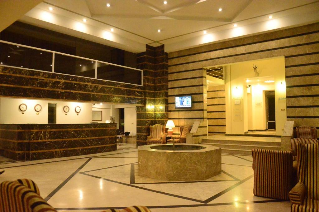 The lobby or reception area at Carlton Tower Hotel Lahore