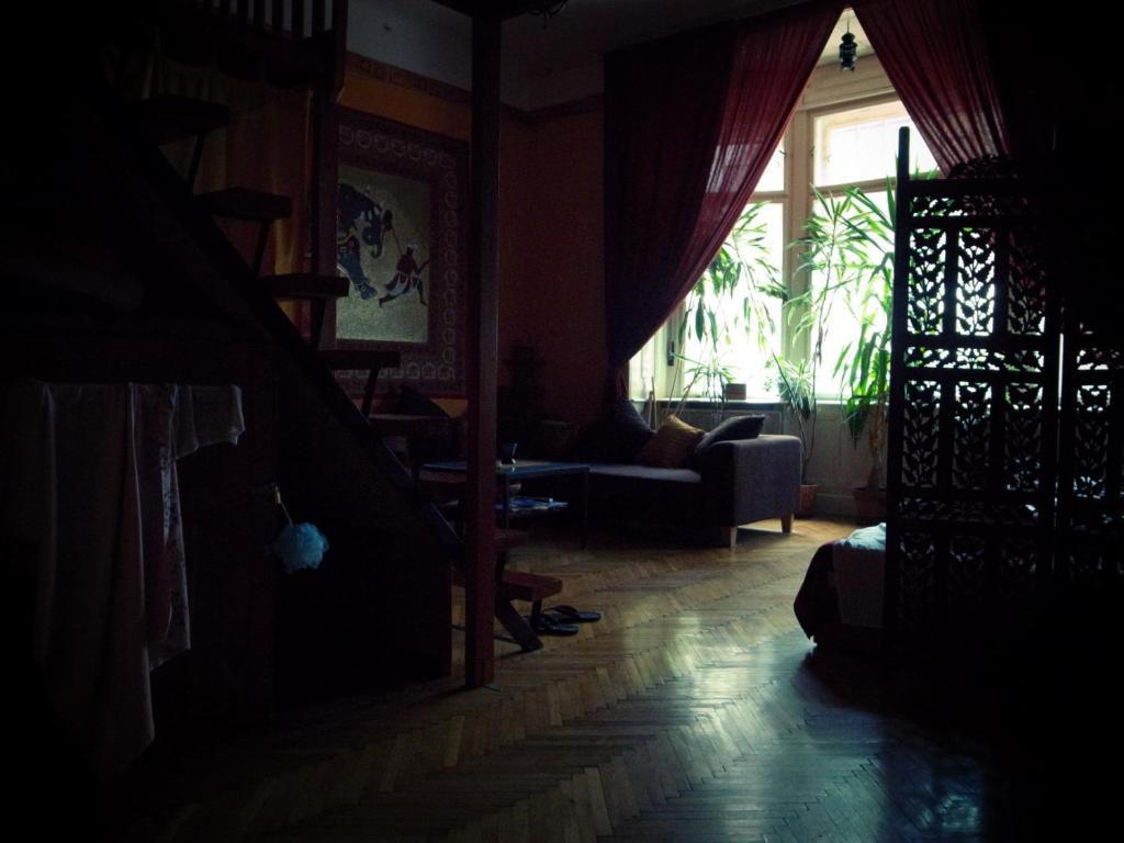 Area soggiorno di Mandala Hostel
