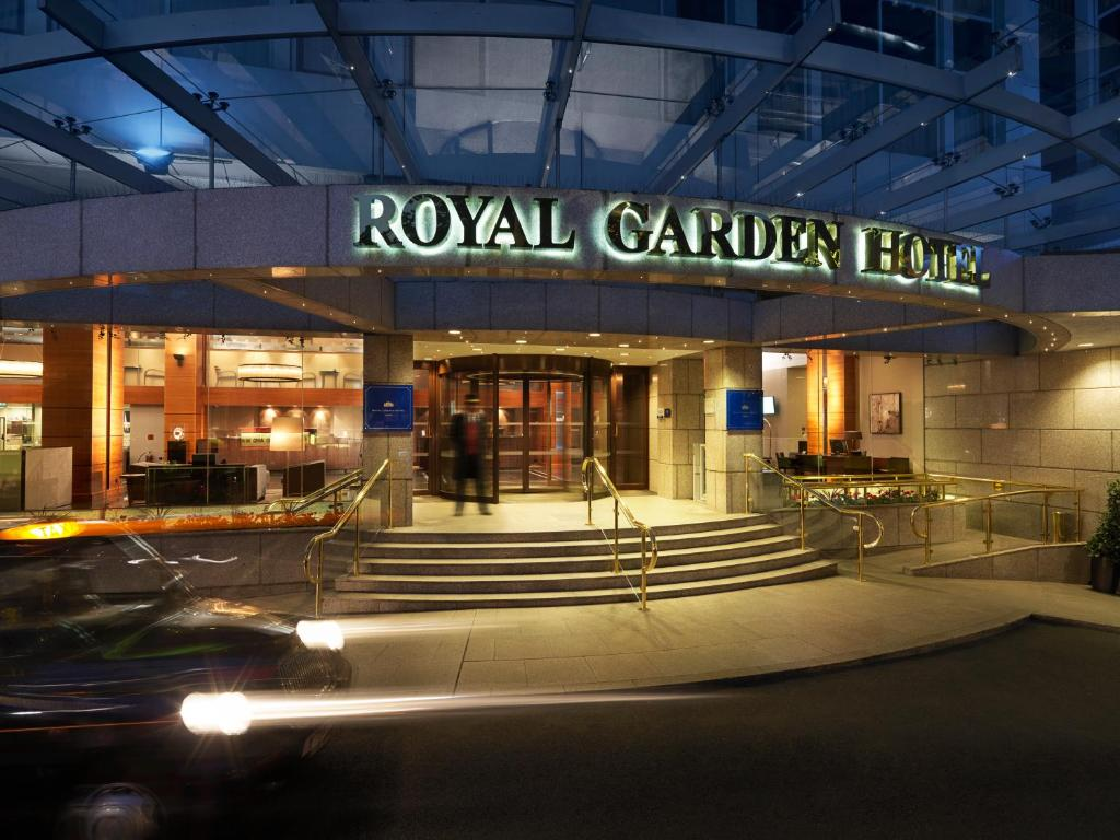 The Royal Garden Hotel.