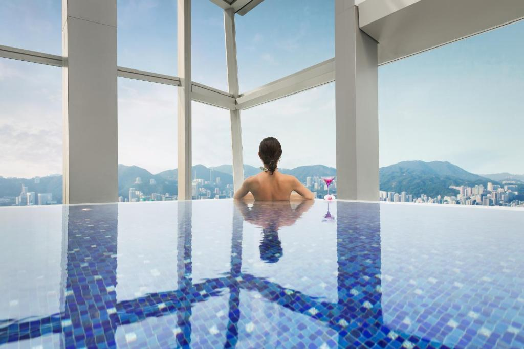 The swimming pool at or near The Ritz-Carlton Hong Kong