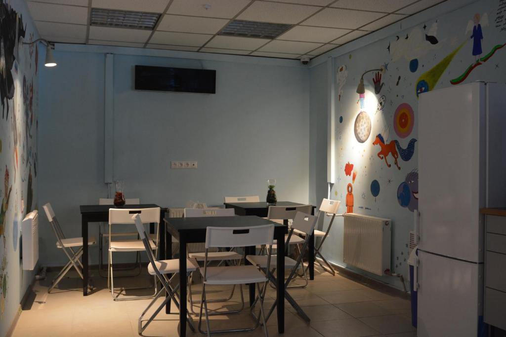 A restaurant or other place to eat at Tsiolkovsky on VDNKh