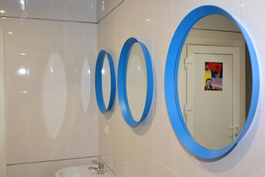 A bathroom at Tsiolkovsky on VDNKh