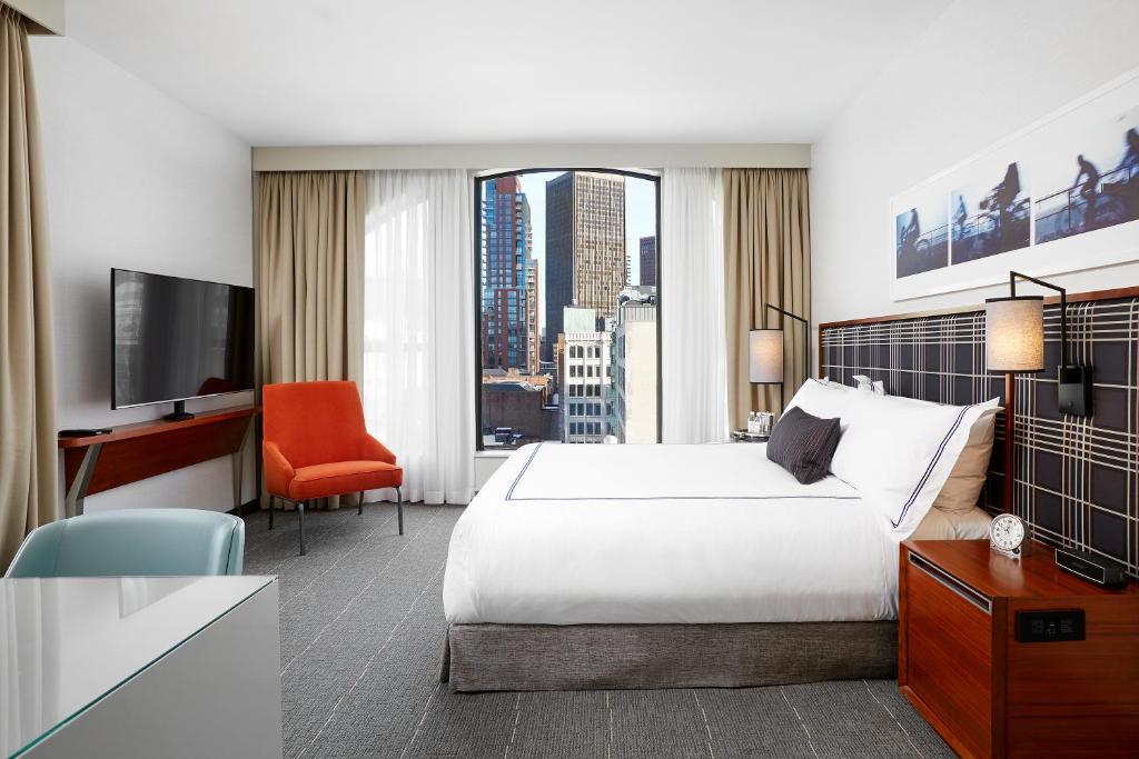 A room at The Godfrey Hotel Boston.