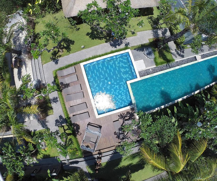 A view of the pool at The Grand Sunti or nearby