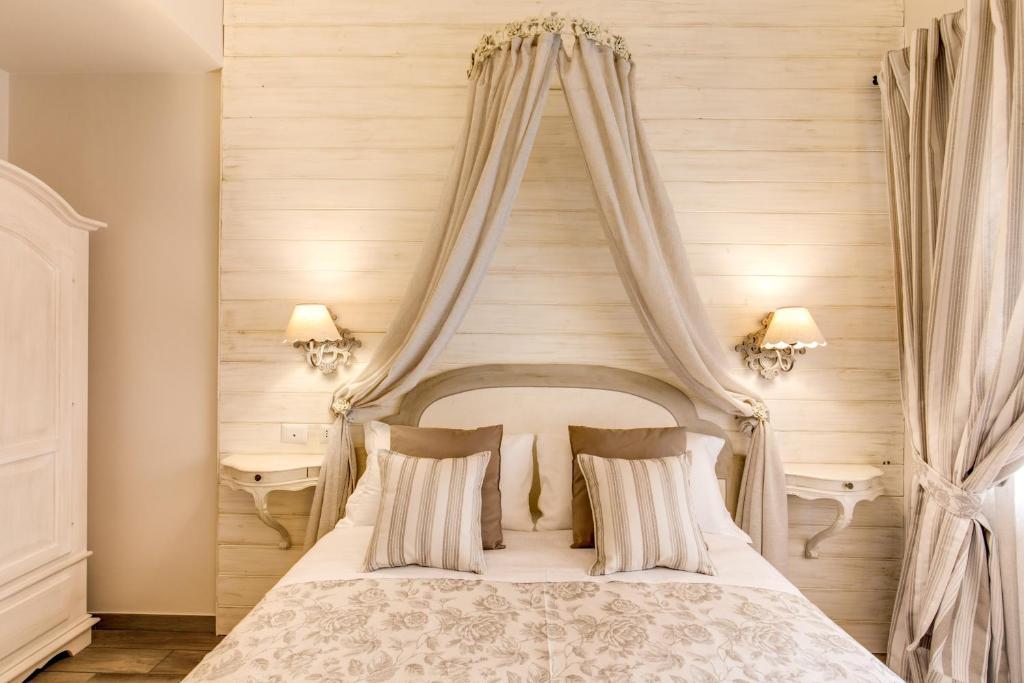 Cama o camas de una habitación en Casa Tua Vaticano