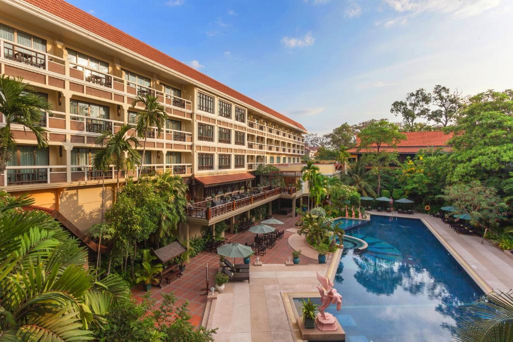A view of the pool at Prince d'Angkor Hotel & Spa or nearby