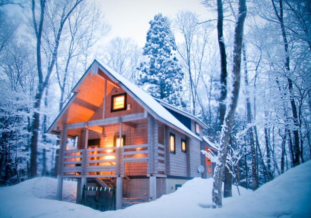 Morino Chalets during the winter