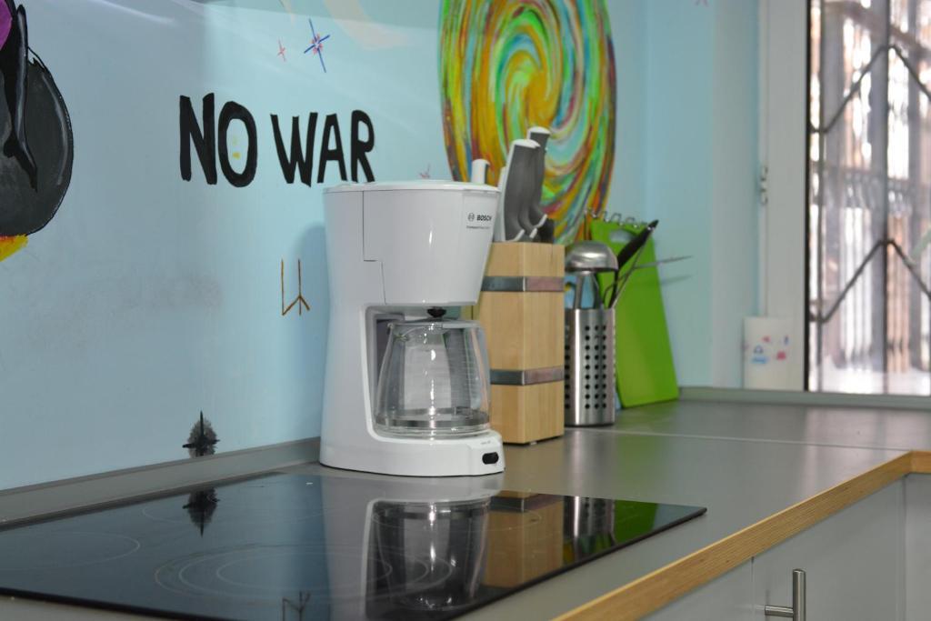A kitchen or kitchenette at Tsiolkovsky on VDNKh