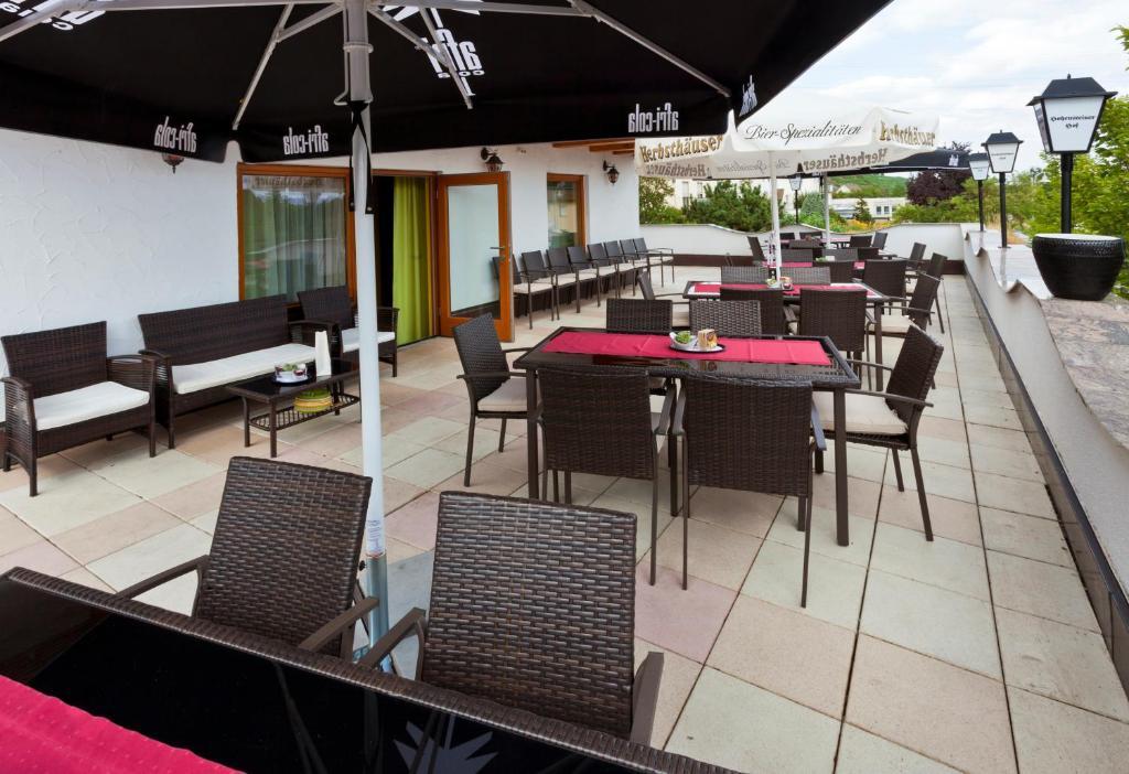 Ein Restaurant oder anderes Speiselokal in der Unterkunft Hotel Hohensteiner Hof