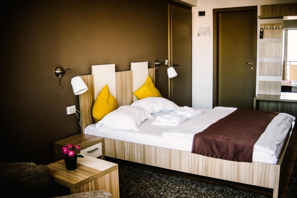 Cama o camas de una habitación en Hotel Gala
