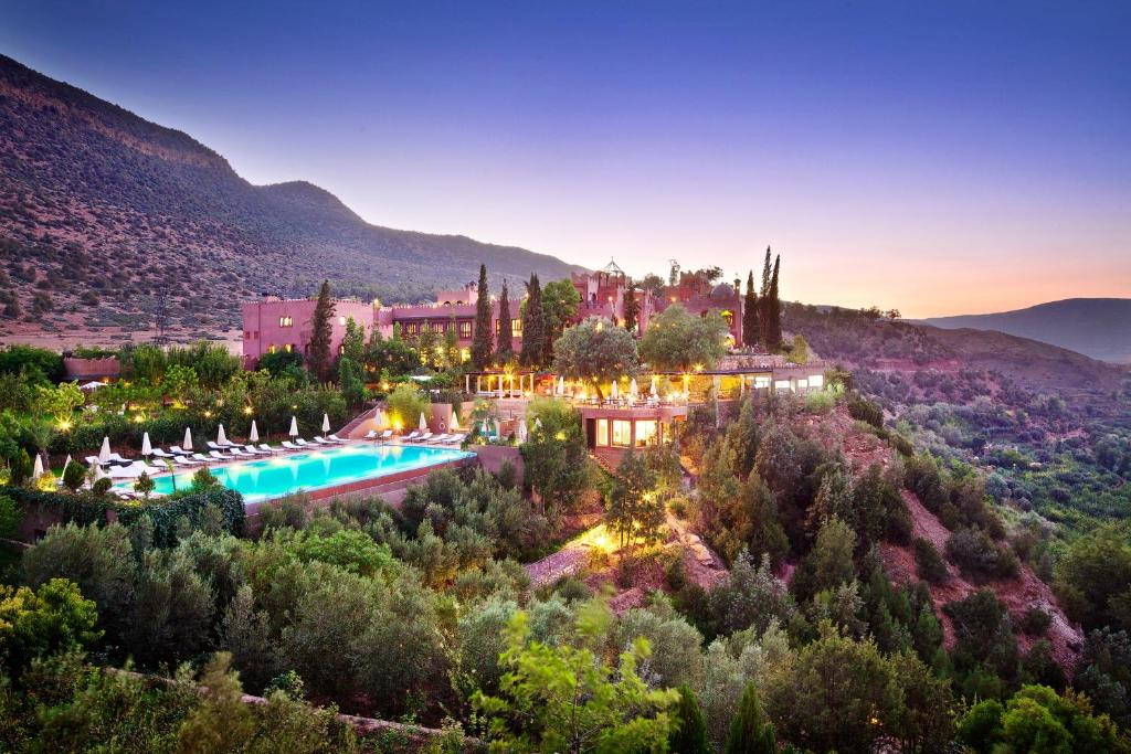 A view of the pool at Kasbah Tamadot or nearby
