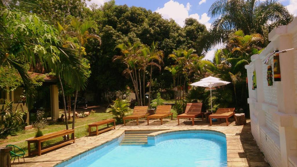 The swimming pool at or near Posada Shalom