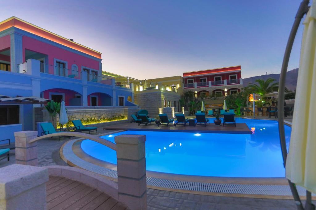 The swimming pool at or close to Leros Princess