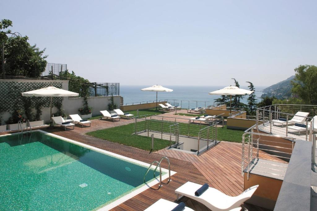 A view of the pool at Relais Paradiso or nearby