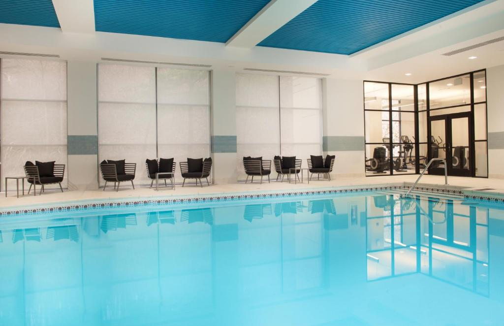 The swimming pool at or near Pittsburgh Airport Marriott