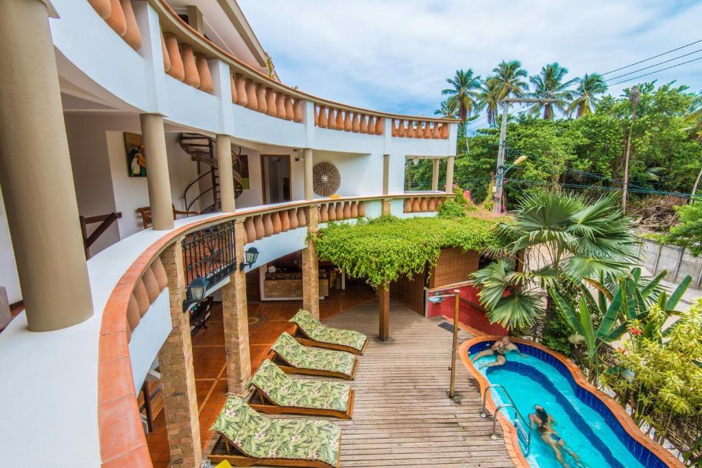 Uma vista da piscina em Pousada Bahia Brasil ou nos arredores