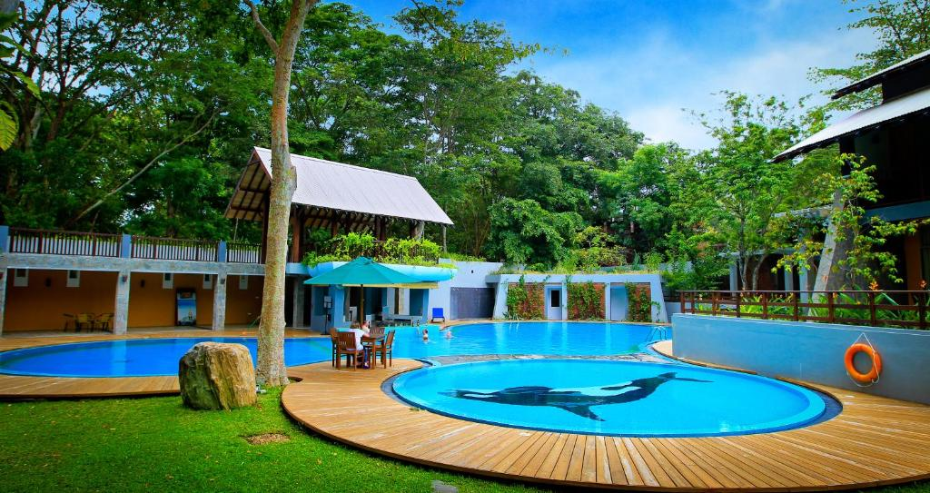 The swimming pool at or close to Grand Udawalawe Safari Resort