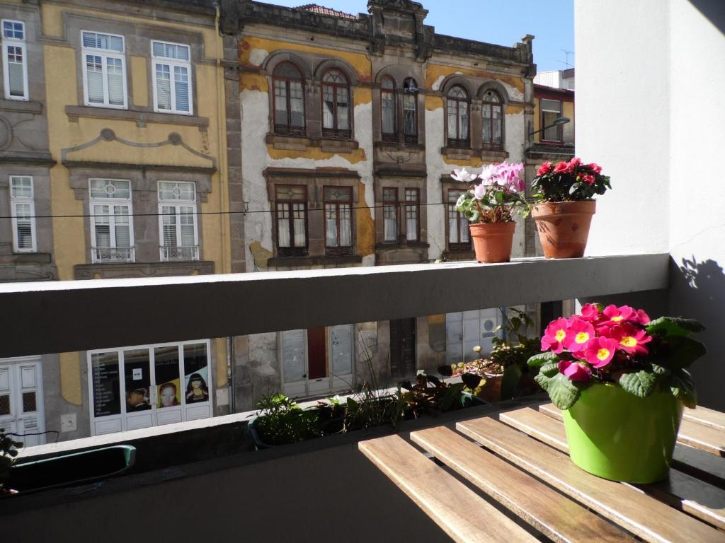 A balcony or terrace at Ana D'Ouro Apartment