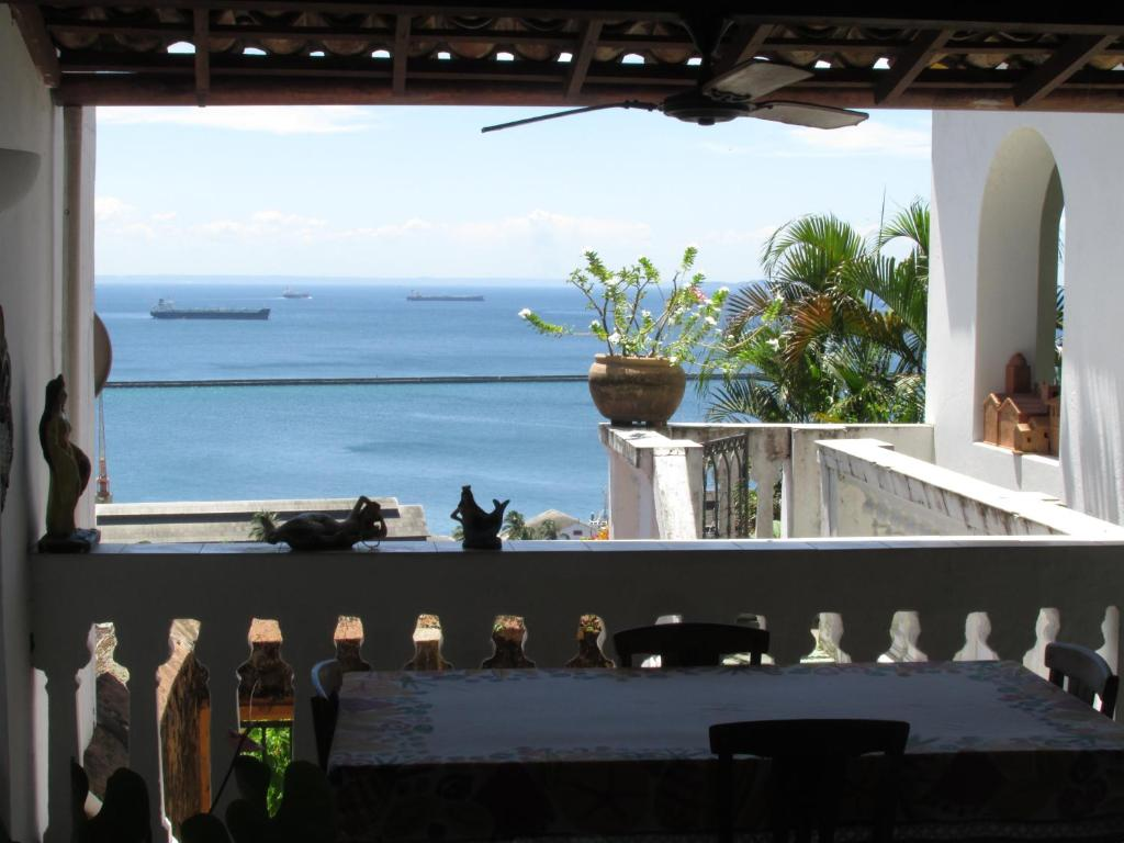 A balcony or terrace at Pousada do Boqueirão