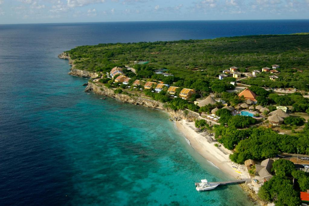 A bird's-eye view of Kura Hulanda Lodge & Beach Club - All Inclusive