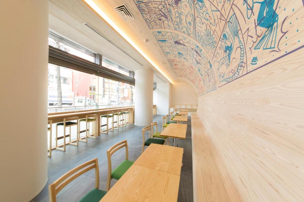 難波WBF施埃爾內耳膠囊旅館餐廳或用餐的地方