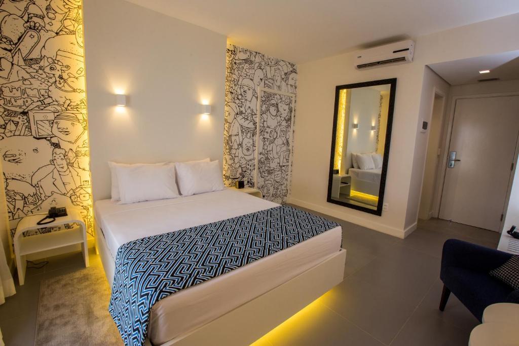 Cama ou camas em um quarto em Ibis Styles Palmas