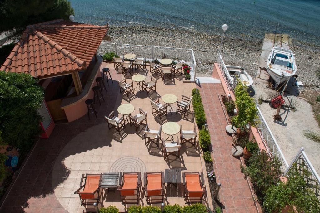 Pohľad z vtáčej perspektívy na ubytovanie Porto Xronia
