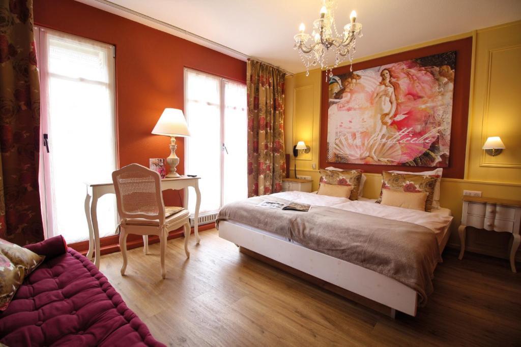 Cama o camas de una habitación en Hotel Roses