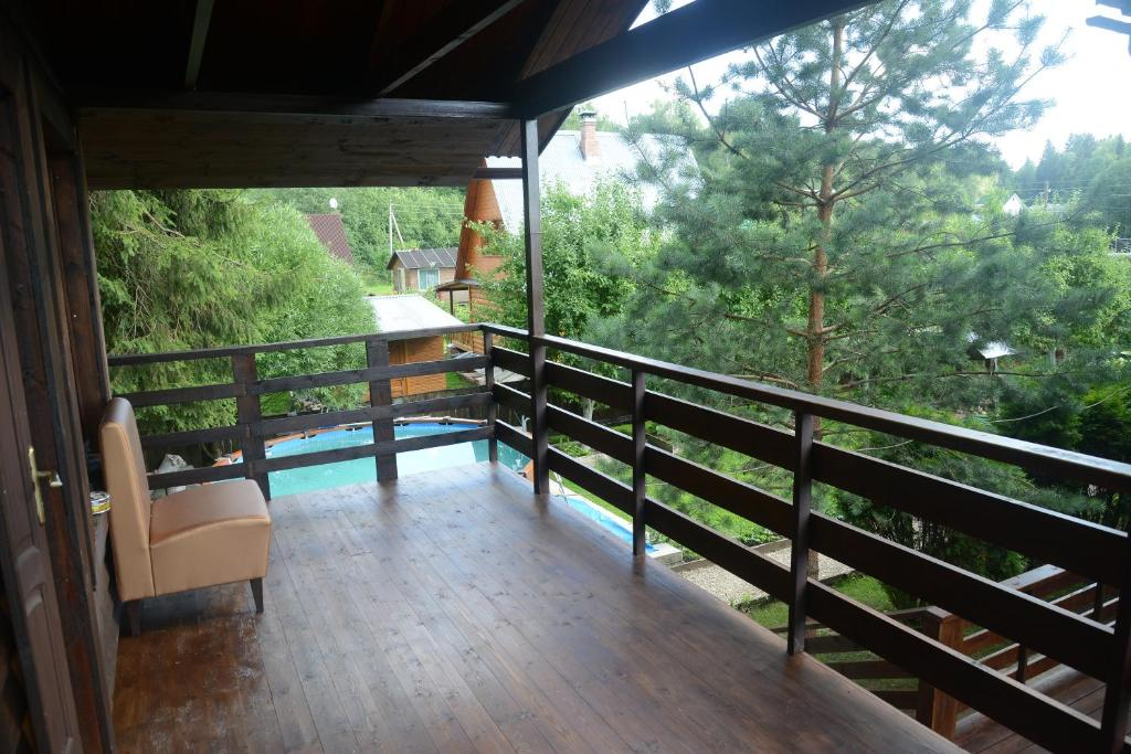 A balcony or terrace at Guest house Aviator