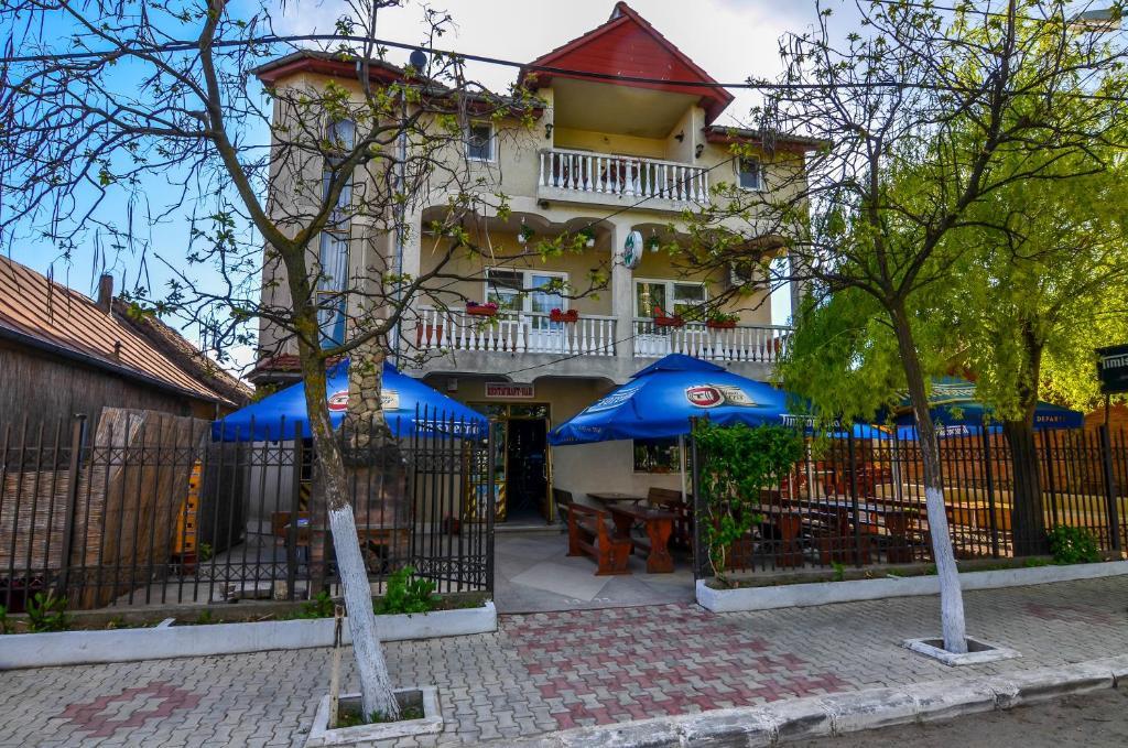 Un patio sau altă zonă în aer liber la Pensiunea Milică