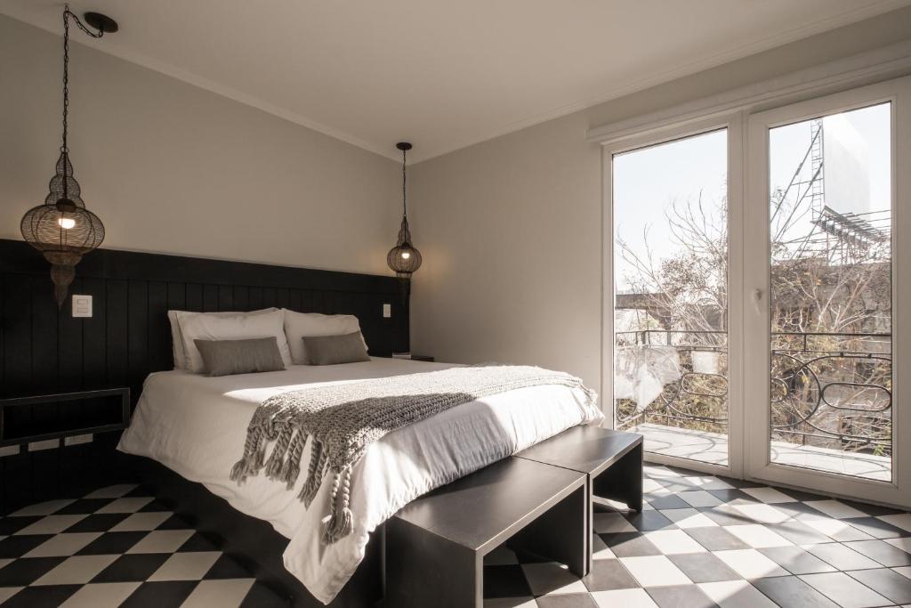 Una habitación en Apart Hotel B