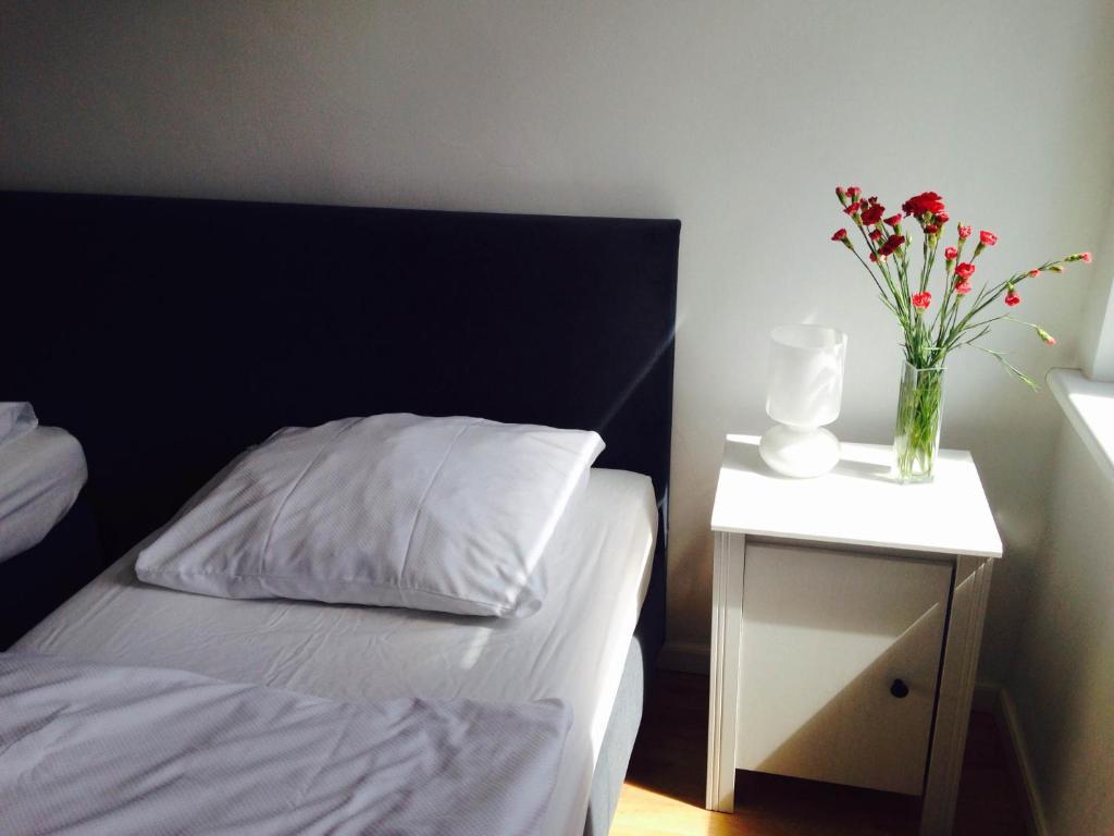 Łóżko lub łóżka w pokoju w obiekcie Hostel Octopus Gdańsk