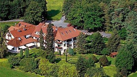 Blick auf Landhotel Waldhaus aus der Vogelperspektive