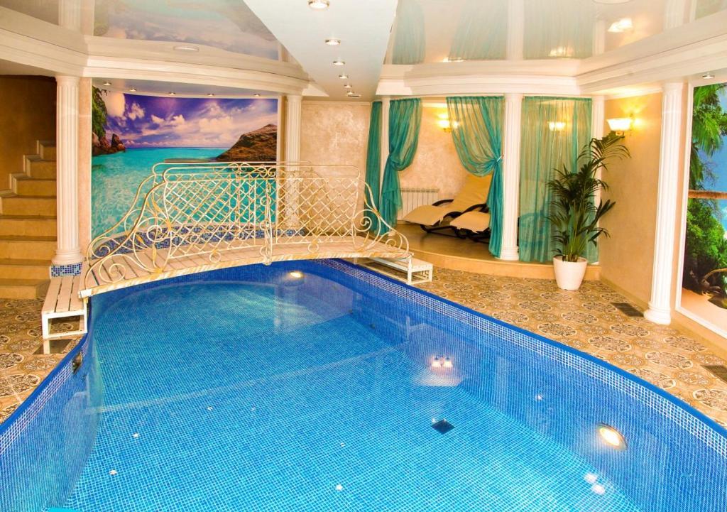 The swimming pool at or near Lesnaya Polyana