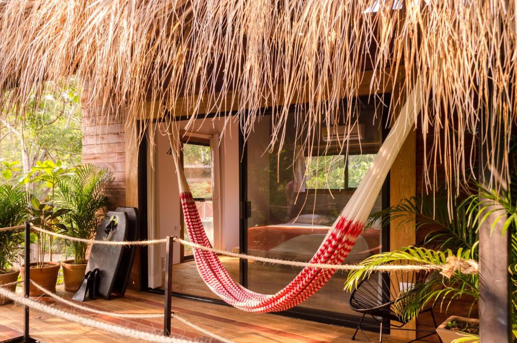 Un patio o zona al aire libre en Hotel Noga