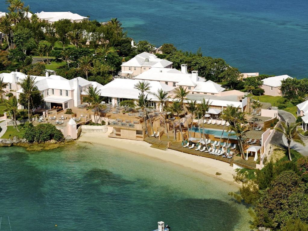 A bird's-eye view of Cambridge Beaches Resort and Spa