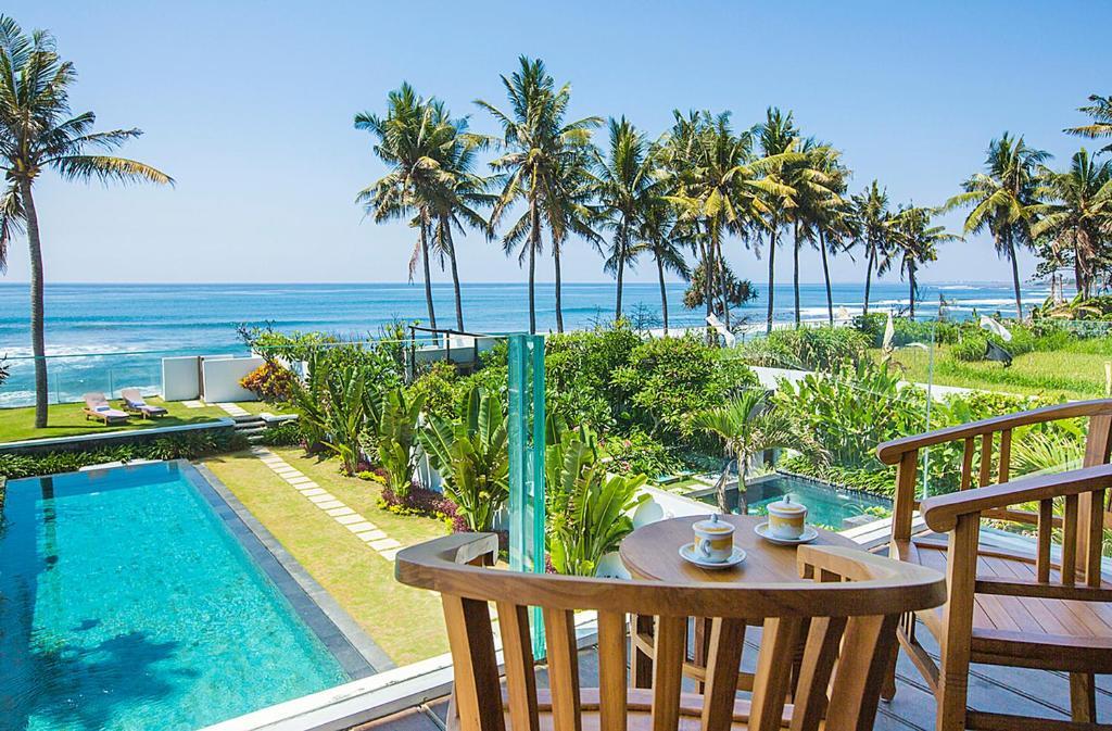 A balcony or terrace at Bali Diamond Estates & Villas