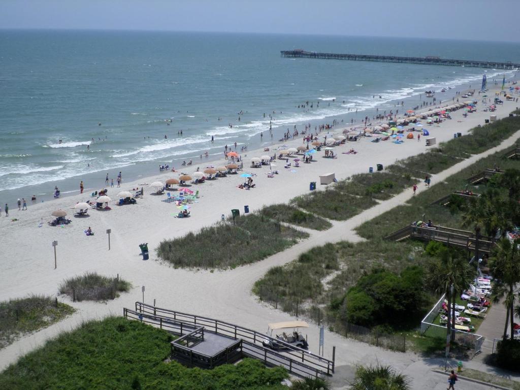 A bird's-eye view of Tropical Seas Hotel