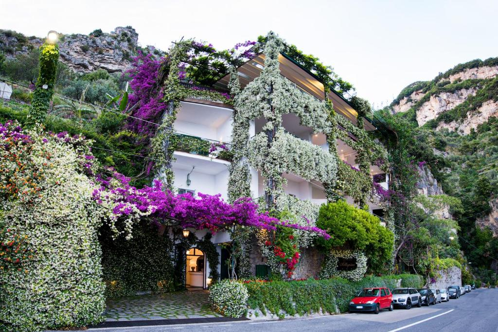 A garden outside Hotel Pellegrino