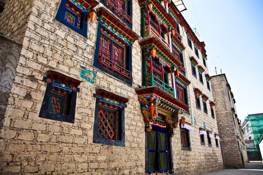 The facade or entrance of Shambhala Palace Hotel