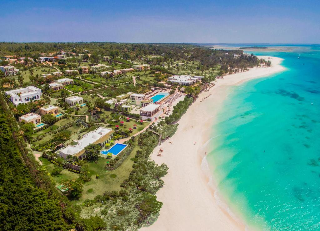 Uma vista aérea de Riu Palace Zanzibar