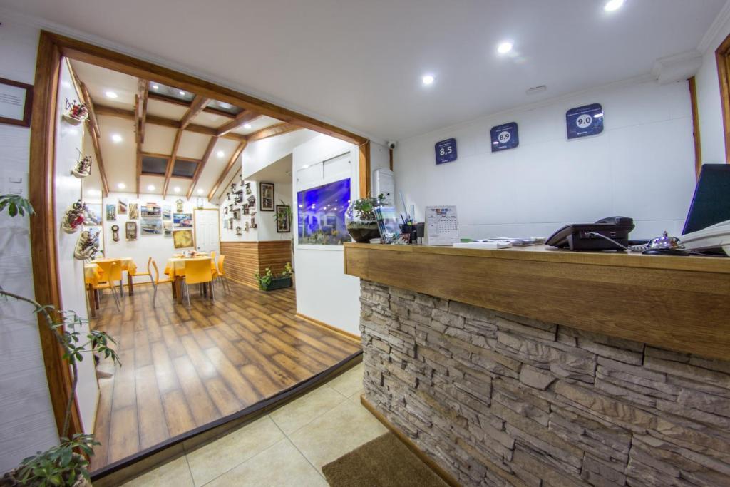 The lobby or reception area at Hostal Concepcion