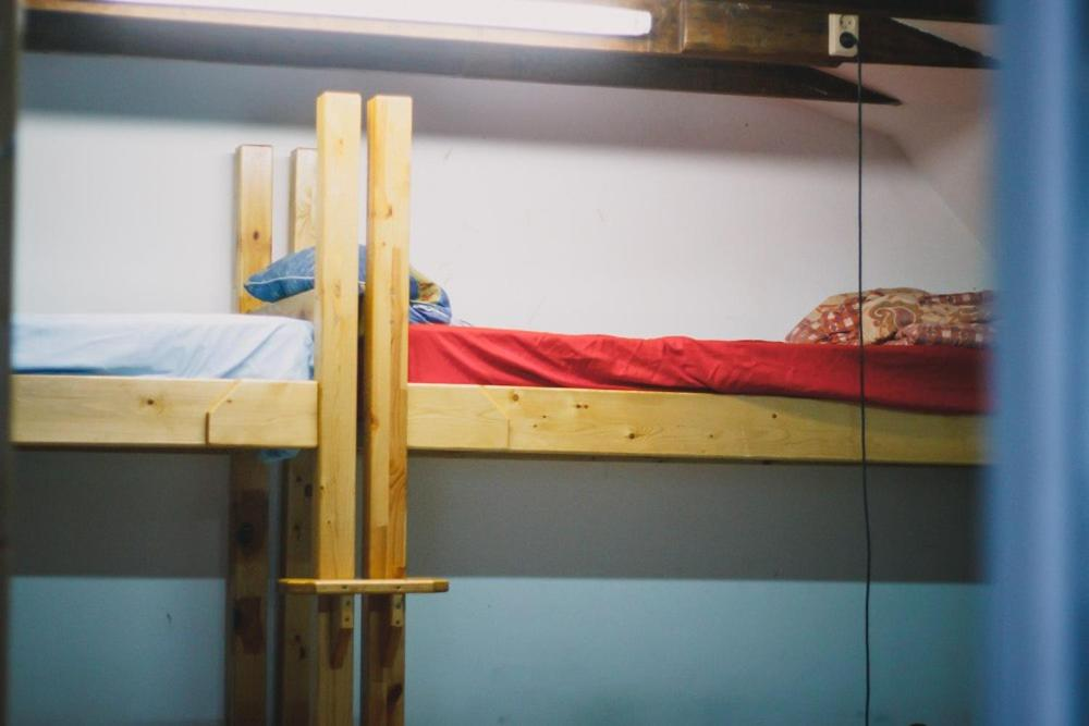 A bunk bed or bunk beds in a room at Hostel Voronezh