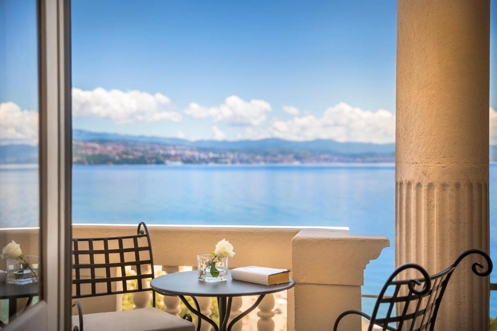 A balcony or terrace at Remisens Premium Grand Hotel Palace