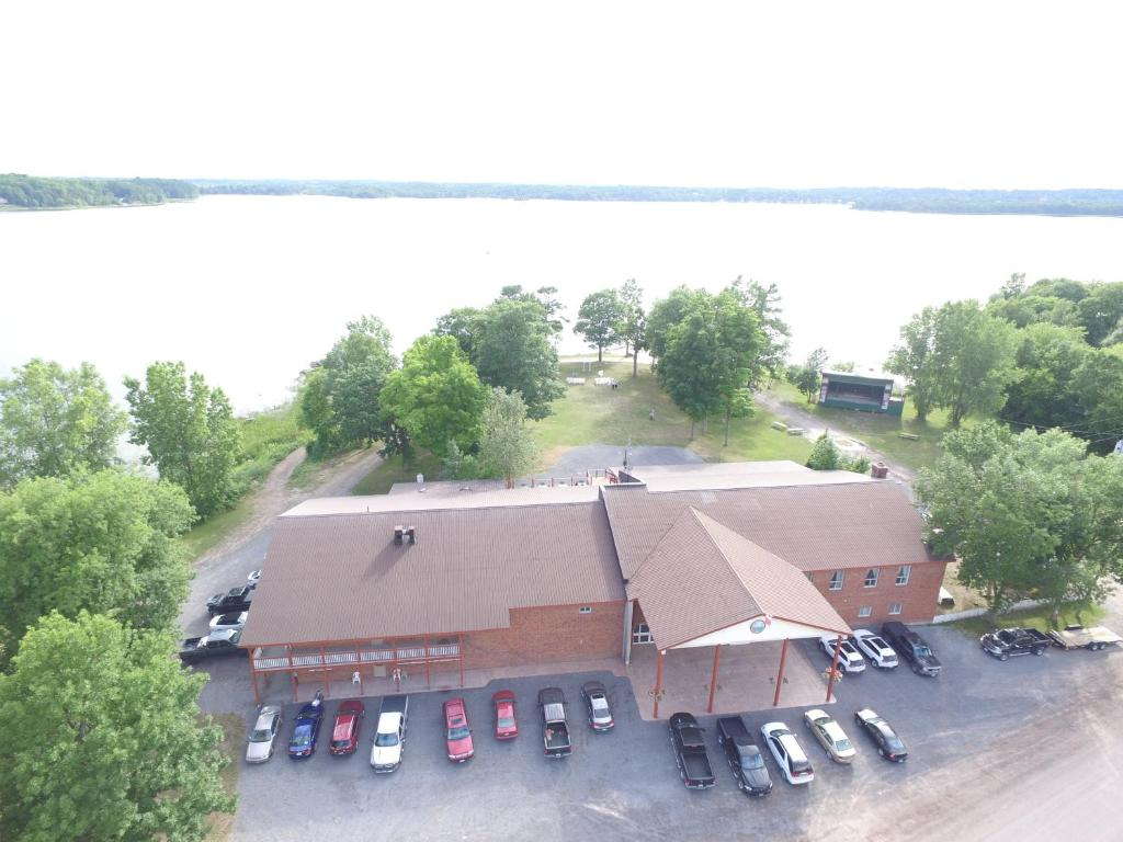 A bird's-eye view of Stoco Lake Lodge