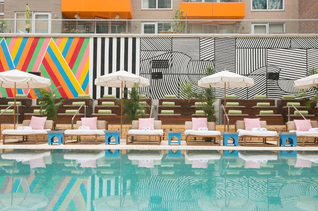 The swimming pool at or near McCarren Hotel & Pool