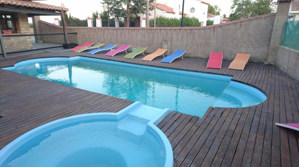 The swimming pool at or near Hotel Rural Los Abriles