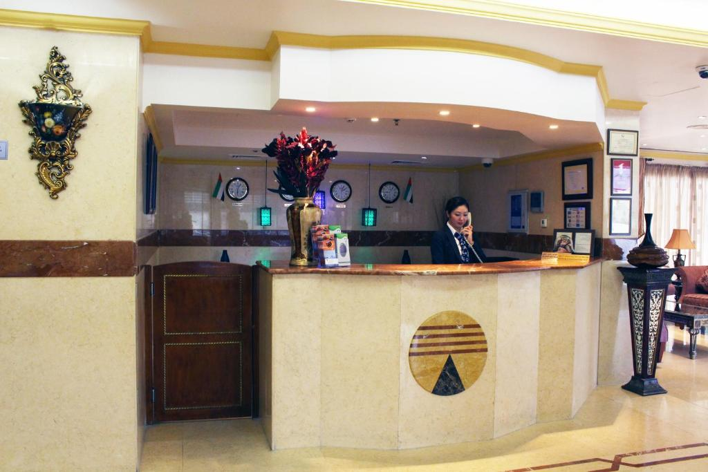 The lobby or reception area at Al Deyafa Hotel Apartments