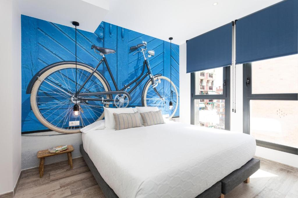 A room at The Bicycle Apartments