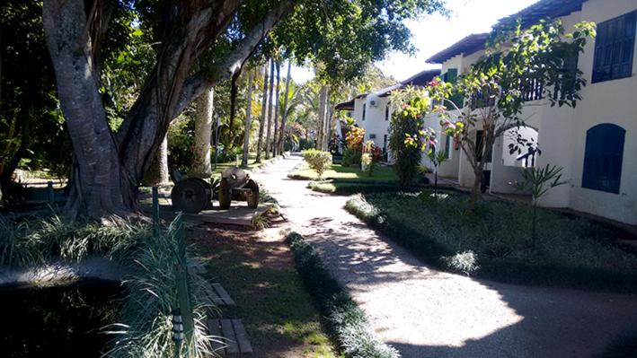Jardín al aire libre en Apartamento em Praias Brancas Apart